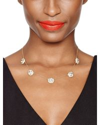 kate spade new york - Metallic Sweet Sparkle Necklace - Lyst