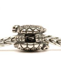 Trollbeads - Metallic Turtles Silver Charm Bead - Lyst