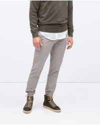 Zara | Gray Jogging Pants for Men | Lyst