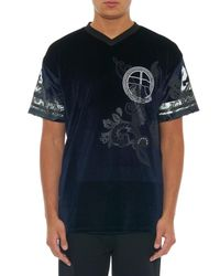 Astrid Andersen - Blue AA-Print Velour Baseball T-Shirt for Men - Lyst