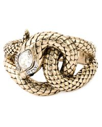 Roberto Cavalli - Metallic Snake Bracelet - Lyst