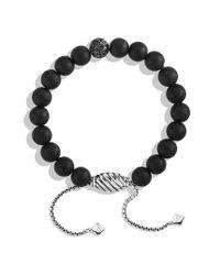 David Yurman - Spiritual Beads Pave Station Bracelet With Black Onyx And Black Diamonds - Lyst