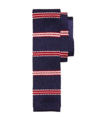 Brooks Brothers - Blue Bb#1 Stripe Knit Tie for Men - Lyst