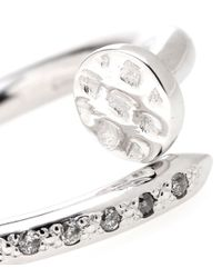 Roberto Marroni - Metallic 18kt Rhodium-plated White Gold Big Nail Ring With Diamonds - Lyst