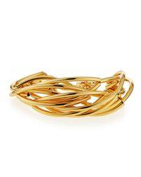 Nest | Metallic Gold-plated Twisted Bracelet | Lyst