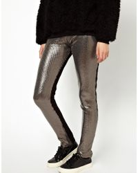 Markus Lupfer - Gray Sequin Leggings - Lyst
