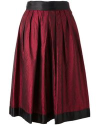Emanuel Ungaro | Red Moire Effect Skirt | Lyst