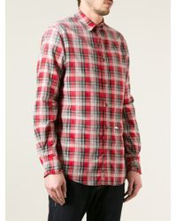DSquared² | Red Check Shirt for Men | Lyst