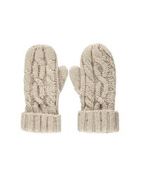 Forever 21 | Natural Cable Knit Mittens | Lyst