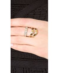 Alexis Bittar | Metallic Crystal Encrusted Draping Ring - Gold | Lyst