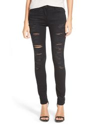3x1 | Black Destroyed Skinny Jeans | Lyst