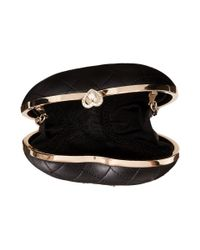 Love Moschino | Black Heart Quilted Evening Clutch | Lyst