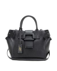 Roger Vivier | Black Pilgrim De Jour Small Leather Tote | Lyst