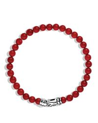 David Yurman | Red Spiritual Beads Bracelet With Coral | Lyst