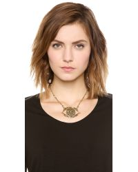 Vanessa Mooney - Metallic Rocker Eye Necklace - Lyst