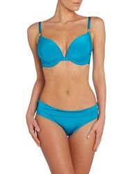 Biba - Blue Rouched Cup Size Bikini Top - Lyst