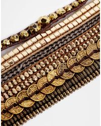Hipanema - Metallic Platine Gold Friendship Bracelet - Lyst
