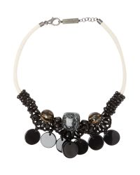 Max Mara | Black Tema Stone Necklace | Lyst