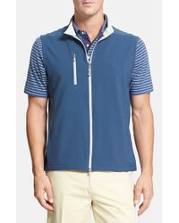 Peter Millar | Blue 'seville' Wind Block Vest for Men | Lyst