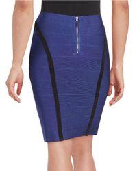 Guess | Blue Stretch Pencil Skirt | Lyst