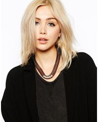 ASOS | Metallic Limited Edition Mesh Faux Pearl Collar Necklace | Lyst