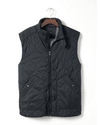 Banana Republic - Quilted Black Nylon Vest for Men - Lyst