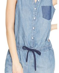 DKNY - Blue Jeans Denim Romper - Lyst