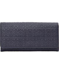 Loewe | Blue Logo-embossed Leather Continental Wallet | Lyst