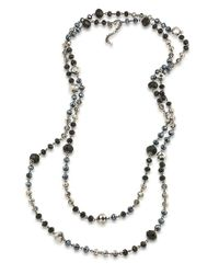 Carolee | Metallic Flower District Jet Beaded Layer Necklace | Lyst