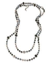 Carolee - Metallic Flower District Jet Beaded Layer Necklace - Lyst