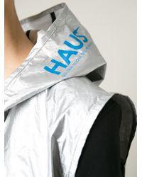 Haus By Golden Goose Deluxe Brand - Metallic Hooded Gilet - Lyst