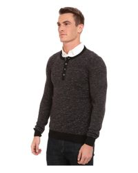 Mavi Jeans | Gray Henley Sweater for Men | Lyst