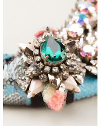 Shourouk   Multicolor Double 'aigrette' Necklace   Lyst