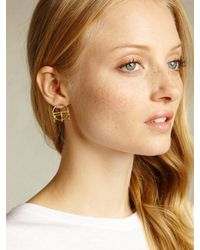 Odette New York | Metallic Crescent Cage Earring | Lyst