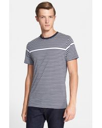 Sunspel | Gray Stripe T-shirt for Men | Lyst