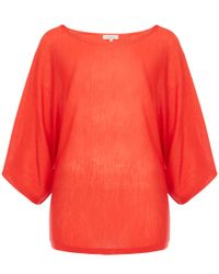 Etro | Orange Wide Arm Wool Knit Jumper | Lyst