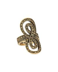 Lucky Brand - Metallic Pave Infinity Ring - Lyst