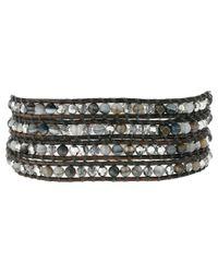 Chan Luu | Metallic 32' Grey Banded Agate Mix Crystal Wrap Bracelet | Lyst