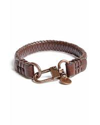 Caputo & Co. | . Braided Leather Bracelet - Dark Brown for Men | Lyst