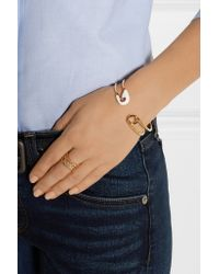 Iam By Ileana Makri - Metallic Enameled Gold-plated Safety Pin Cuff - Lyst