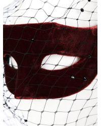 Piers Atkinson - Red Swarovski Crystal Veil Mask - Lyst