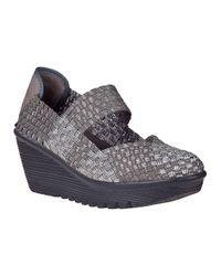 Bernie Mev | Gray Lulia Wedge Sneaker Light Grey Fabric | Lyst
