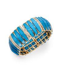 Saks Fifth Avenue - Blue Stretch Bangle Bracelet - Lyst