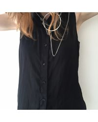 Ann Demeulemeester | Metallic Antique Silver Circle Necklace | Lyst