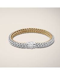John Hardy - Metallic Medium Reversible Bracelet - Lyst