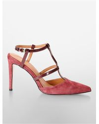 Calvin Klein - Red White Label Coreene T-strap Heel - Lyst