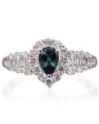 Kojis | Blue Platinum Alexandrite and Diamond Ring | Lyst