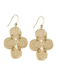 Karen Kane | Metallic Sandy Beach Disc Drop Earrings | Lyst