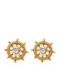Alex Monroe - Metallic Baby Ship's Wheel Earrings - Lyst