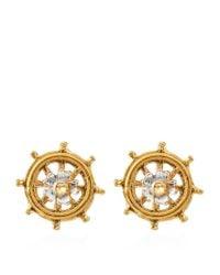 Alex Monroe | Metallic Baby Ship's Wheel Earrings | Lyst
